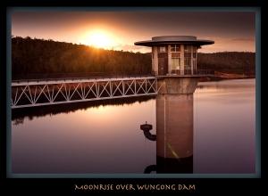 Moonrise over Wungong Dam