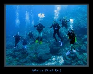 40m at Clerk Reef